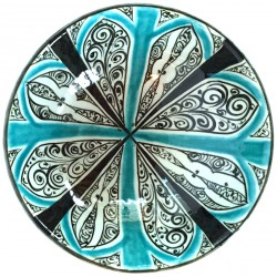 Rumi Patterned Turquoise Nicea Porcelain Plate