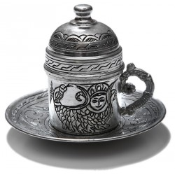 Copper  Turkish Coffee Cup Set (2)