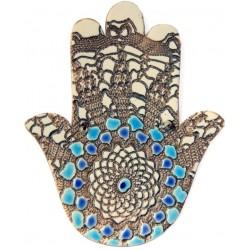 Porcelain Fatima's Hand(Hamsa)  - 2