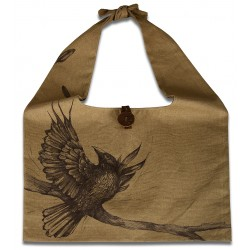Oil on Canvas Black Crow Tote Bag