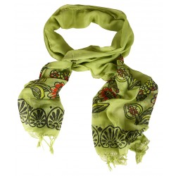 Block Printed Scarf  - Green