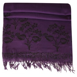 Block Printed Pareo - Purple