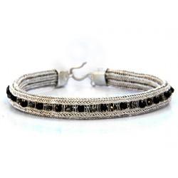 Kazaziye Silver Bracelet with Onyx