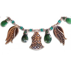 Silver Necklace with Emerald