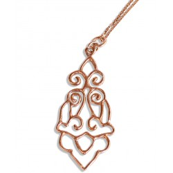 Rose Gold Plated Iznik Silver Necklace