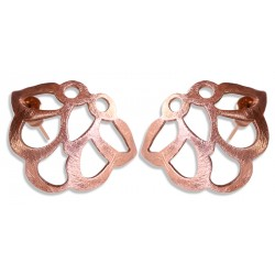 Rose Gold Plated Iznik Silver Stud Earrings