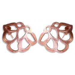 Rose Gold Plated Iznik Silver Stud Earrings