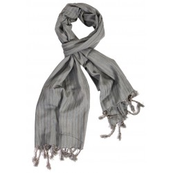 Silk Male Scarf - Light Grey