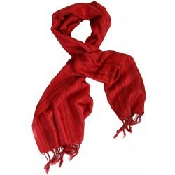 Silk Scarf - Red
