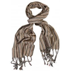 Silk Male Scarf - Beige