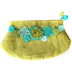 Kutnu Wallet Venice Green with Flower Patterned Lacework