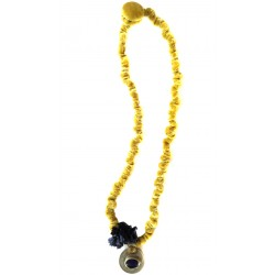 Dark Yellow Velvet Necklace