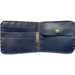 Leather Wallet - Indigo Blue