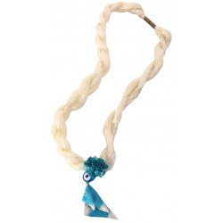 White Silk Evil Eye Necklace