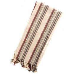 Linen Turkish Towel / Pestemal - Multicolor stripe