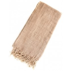 Linen Turkish Towel / Pestemal - Cream