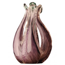 Purple Tulip Glass Vase
