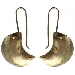 Moon Shaped Earrings - Silver