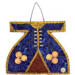 Mosaic Kaftan Dark Blue