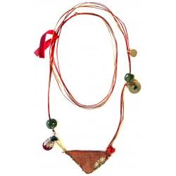 Muska Long Necklace - Red Ribbon