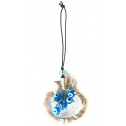 Blue Pomegranate Charm