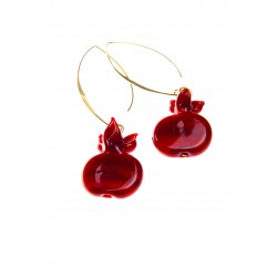 Pomegranate Glass Earrings