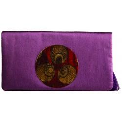 Purple Ottoman Clutch Bag