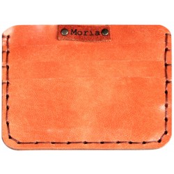 Leather Card Wallet - Salmon Pink