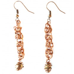 Byzantian Chain Copper Earrings