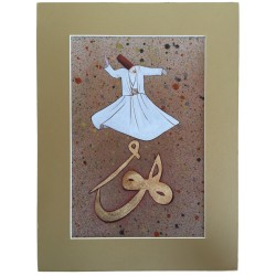 Whirling Dervish Calligraphy
