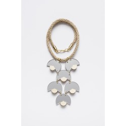 SMiLe By EzGi 6' Necklace - Silver & Wood