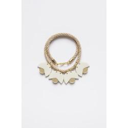 SMiLe By EzGi 4' Necklace - White & Gold