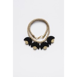 SMiLe By EzGi 4' Necklace - Black & Gold