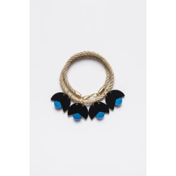 SMiLe By EzGi 4' Necklace - Black & Blue