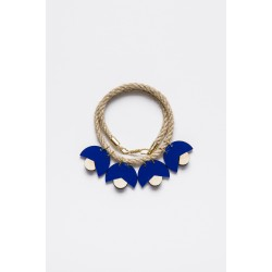 SMiLe By EzGi 4' Necklace - Blue & Wood