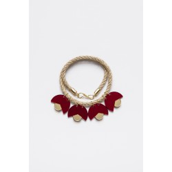 SMiLe By EzGi 4' Necklace - Red & Gold