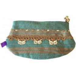 Turquoise Kutnu Wallet - Elliptical