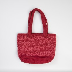 Red Knitted Shoulder Bag