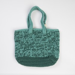 Green Knitted Shoulder Bag