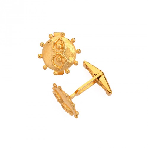"""""""Eye"""" - 24-carat Gold Plated Silver Cuff-links"""