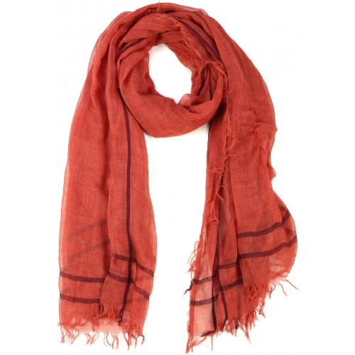 Red Goat Wool and Silk Pashmina Scarf