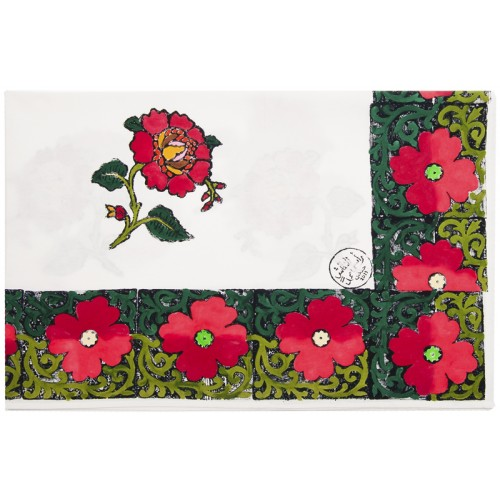 Table Cloth with Flower Patterns