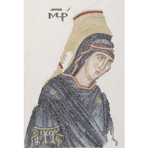 Virgin Mary Mosaic from Chora Museum Miniature