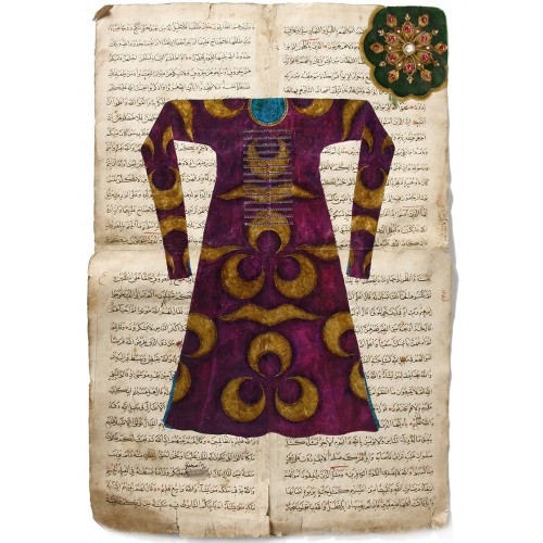 Çintemani patterned Caftan Ottoman Miniature