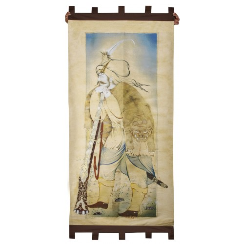 Knitted Wall Board with Crazy Soldier Ottoman Miniature