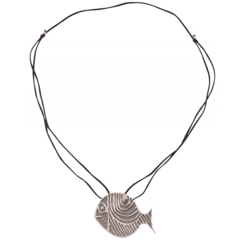 Bedri Rahmi Fish Necklace - Grey