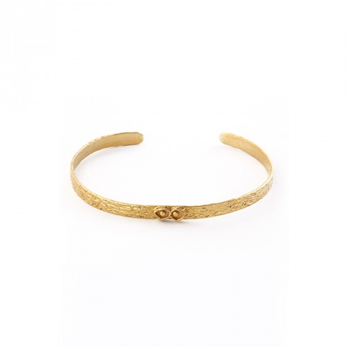 """Eye"" - 24-carat Gold Plated Silver Bangle"