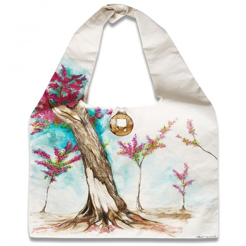 Oil on Canvas Judas Tree Tote Bag