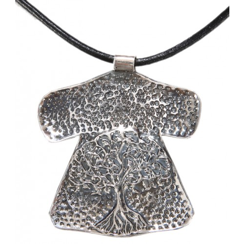 Tree of Life Caftan Silver Necklace