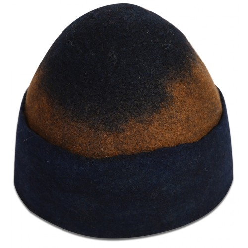 Dark Blue Felt Hat